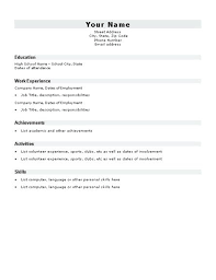 Student Resume Template – Districte15.info