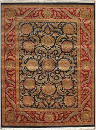 rugsville traditional wool blue red rug 9 x 12