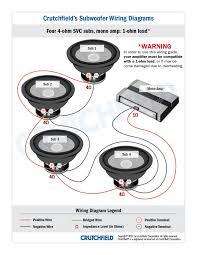 wiring diagrams car stereo wiring diagram crutchfield audio dual 2 ohm sub wiring at 4 Ohm To 2 Ohm Wiring Diagram