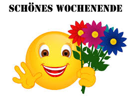 Smiley Schönes Wochenende Blumen Grüße Schönes Wochenende