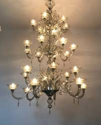 murano chandelier venice glass 20th c