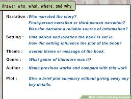 How To Start A Summary Paragraph 10 Steps With Pictures