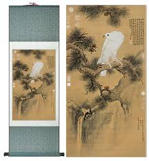 eagle painting home office decoration chinese scroll painting eagle on pine tree painting eagle picture