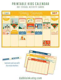 Schedule Calender Kids Calendar L Weekly Activity Schedule I Toddler Calendar I Weekly Routine I Visual Schedule L Printable I Weekly Rhythms