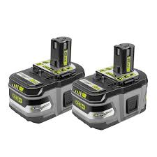 Ryobi Battery Comparison Chart Ryobi 18 Volt One Lithium Ion 6 0 Ah Lithium Hp High Capacity Battery 2 Pack