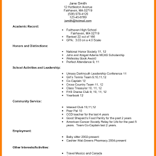 First Job Resume Examples First Job Resume Template Best Business No Experience Sample Free 86
