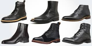 18 best black leather boots for men modern casual genuine leather
