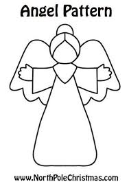 Angel clipart template - Pencil and in color angel clipart template