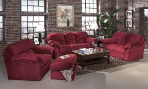 Transitional Living Room Furniture Burgundy Fabric Transitional Living Room W Sewn On Arm Pillows