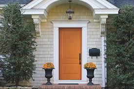 Orange front door Inside Orange Front Door Pella Windows Doors Choosing Color For Your Front Door Prs Blog