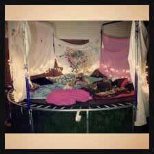 Easy Forts To Build Do You Have A Trampoline In The Garden Add Some Pillows And