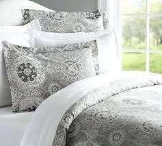 grey paisley bedding duvet cover sham pottery barn blue gray king