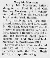 Mary Ida Morrison 1972 Obituary - Newspapers.com