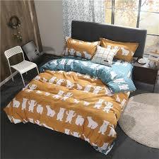 white bear pattern bedding sets bed set bedclothes for kids bed linen duvet cover bed sheet pillowcase full queen king size double duvet cover leopard