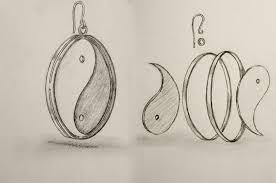 Дипломный проект по проектированию ювелирных изделий Эскиз ювелирного изделия серьги из драгоценного металла