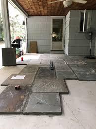 installing flagstone