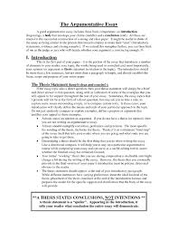 argumentative essay thesis counter argument essay examples example