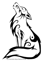 howling wolf drawing tattoo. Modren Howling Tribal Howling Wolf By PassionatePaints On DeviantArt And Drawing Tattoo