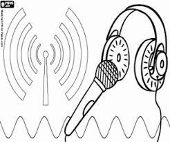 Kleurplaat De Radio Een Communicatiemedia Kleurplaten