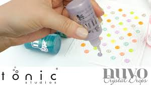 How To Use Nuvo Crystal Drops Glitter Drops Tonic Studios Tutorial Jodie Johnson