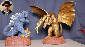 Godzilla and King Ghidorah Ornaments 2015 - YouTube