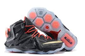 lebron shoes 12 black. hot charm nike casual qf\u0026gka snp shoes lebron 12 p.s elite black gold fire red limited offer mens lebron x