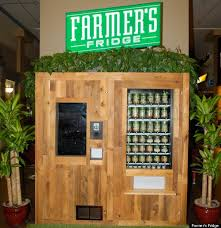 Salad Vending Machine Chicago Amazing No Candy Bars Here This Vending Machine Sells Only Fresh Salads And