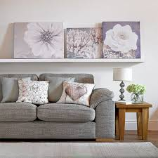 >grey bloom printed canvas wall art grahambrownuk