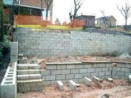 retaining wall cost concrete block of landscape installation per square foot c