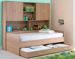 modern single bedroom storage desk over the bed shelves unit for small bedrooms bed with