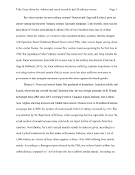 essay about the violence and sexual assault in the us military women 4 title essay about the violence and sexual assault