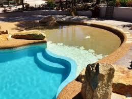 fiberglass pools with beach entry. Brilliant Fiberglass Taj Mahal Fiberglass Pool With Beach Entry And Raised Deck And Fiberglass Pools With Beach Entry T