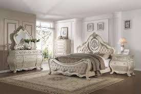 Ragenardus Beige Antique White Bedroom Collection by ACME - bedroom ...