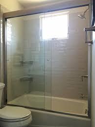 semi frameless shower glass door enclosure