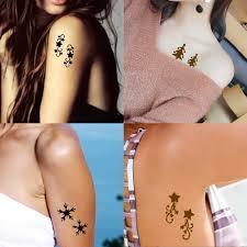 10 шткомпл хна татуировка трафарет звезды шаблон рисование пастой леди боди арт