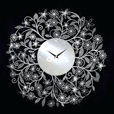 crystal wall art crystal wall decor fl chrome wall clock with crystal decoration on designs next acrylic crystal antiqued