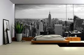 New York City Bedroom Wallpaper New York City Skyline Black And White Wallpaper Mural Amazoncom
