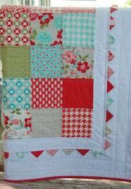 Baby Girl Patchwork Quilt Red Nursery Bedding by LittleCottonShop ... & Vintage Modern Baby Quilt - Patchwork Quilt - Baby Blanket - Modern Baby  Quilt - Quilted Adamdwight.com