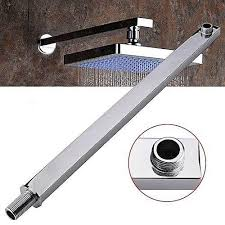 universal 15 shower arm square extension chrome wall mounted for rain shower head bathroom