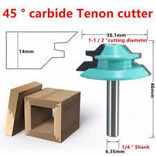 lock miter router bit. wood cutter tools 45 degree lock miter router bit 1/4
