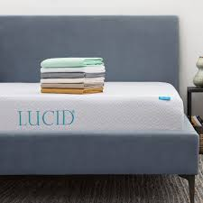 sheets for 10 inch mattress. Unique Inch Lucid 10inch Queensize Gel Memory Foam Mattress With Tencel Sheet Set  Inside Sheets For 10 Inch C