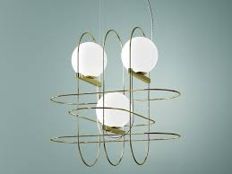 blown glass pendant lamp setareh pendant lamp by fontanaarte