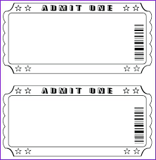 Cinema Ticket Template Soulective Co