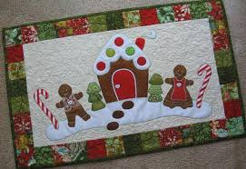 8 Christmas Table Runner Patterns That Stitch Up Quick & Gingerbread Christmas Table Runner Adamdwight.com