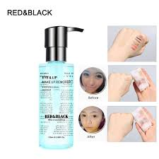 red black cleansing liquid radiant remover 125ml makeup remover deep clean eyes lips face mild clean skin care cosmetic diy makeup remover homemade makeup