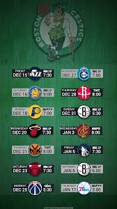 boston celtics 2017 nba basketball december hardwood schedule wallpaper for iphone andriod and windows mobile phones