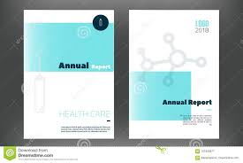 Medical Annual Report Template In Blue Color. Flyer With Inline ...