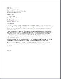 Human Resource Management Cover Letter Sample