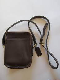 soft brown leather coach purse