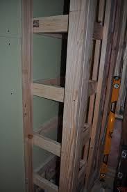Built In Drywall Shelves Carri Us Home Diy Built In Bathroom Cabinet Part Ii